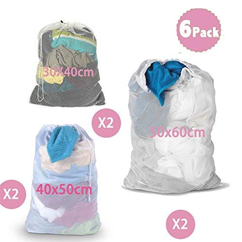 7b01c0b8baa5 DoGeek-Laundry Bags- White Mesh Washing Bags Large Laundry Bag - For ...