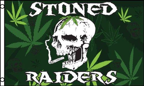 AZ FLAG Bandera Pirata Fumador Stoned Raiders 150x90cm - Bandera...
