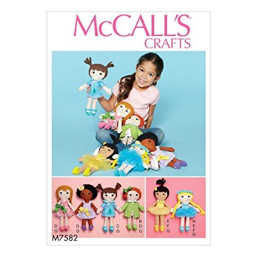 McCall' s Patterns Modello 7582OS, Bambola e Abiti, Multi/Colore