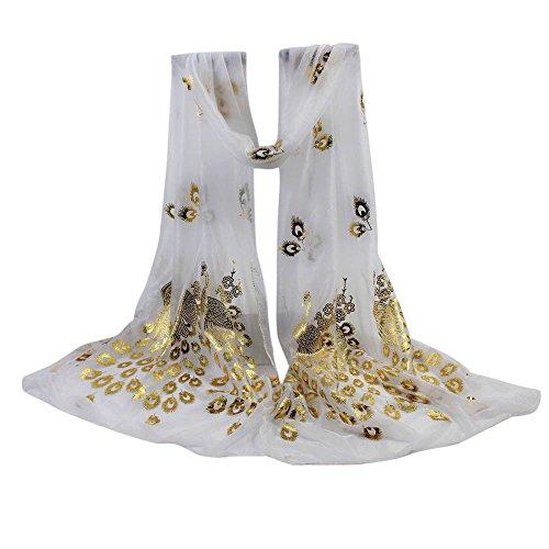 YWLINK Zartes Damen Retro Einfarbig Elegant Pfau Weiche UmschlagtüCher Frauen Langer Wraps Schals KostüM Accessoires Geschenk (Witzige Kostüm Selbstgemacht)
