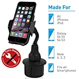 Best Iphone6 Plus Car Mounts - Macally Adjustable Automobile Cup Holder Phone Mount Review