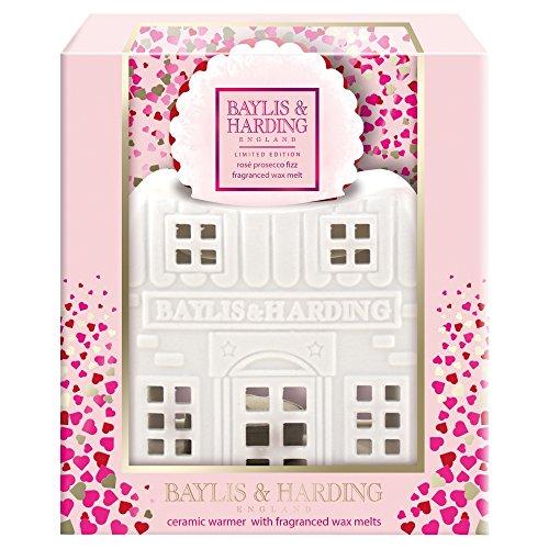 Baylis & Harding PLC Keramik Wachshaus, Prosecco, Rosa - Gusseisen Kerze In