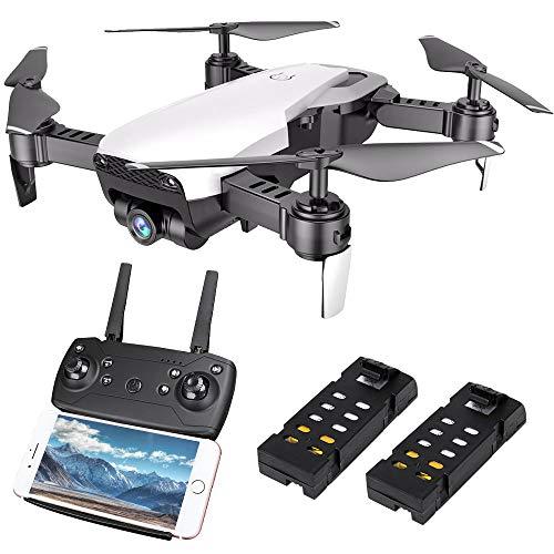 Lihe drone pieghevole con telecamera hd 720p, 6 gyroscope a 2,4 ghz, quadricottero rc con 2 batterie e funzione altitudine, modalità headless, tasto di ritorno con una chiave, mini elicottero per bambini, principianti