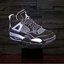 competitive price 0971a de9f9 Jordanie Rétro 4 Chaussures De Basket-Ball Lampe Décor De Chevet 3D  Illusion Touch Capteur