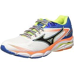Mizuno Shoe Wave Ultima, Chaussures de Running Homme, Multicolore (White/Black/directoireblue), 40.5 EU