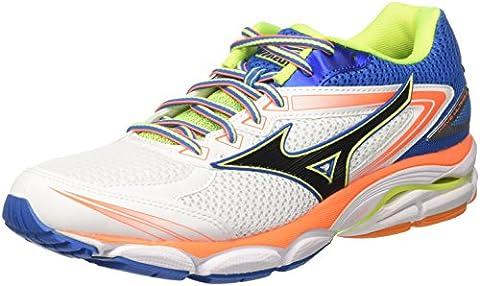 Mizuno Shoe Wave Ultima, Chaussures de Running Homme, Multicolore (White/Black/Directoireblue), 42 EU