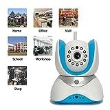Überwachungskamera,IP Netzwerkkamera,Innenkamera mit Mikrofon,350° Schwenk- WiFi Sicherheitskamera,WiFi Wlan IP Sicherheits kamera,P2P drahtlose IP Kamera,Innen Überwachungskamera,IR Überwachungskamera Baby Monitor