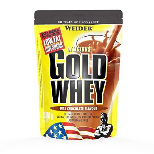 Weider, Gold Whey Protein, Schoko, 1er Pack (1x 500 g) - Gold-standard-protein-shake