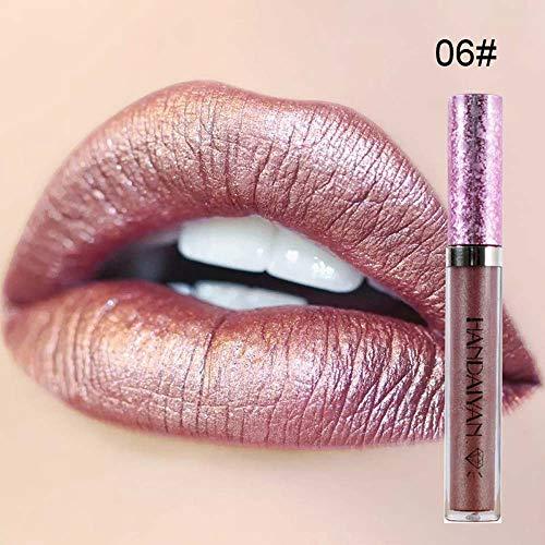 Lucidalabbra Bimba,Lucidalabbra Volumizzante 6 Colori Trucco Metallico Diamante Impermeabile lip Gloss Glitter Rossetto Lunga Durata Lipgloss Cosmetici