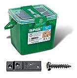 SPAX Terrassenträger, 30 Sticks mit 90 Halbrundkopfschrauben Stück, schwarz, 52017404502159