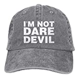 jinhua19 Hüte,Kappen Mützen Sports Denim Cap I'm Not Daredevil Men Women Golf Hats Washed Denim Cap