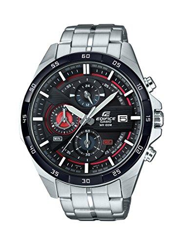 Casio Edifice Herrenarmbanduhr EFR-556DB-1AVUEF, rot schwarz, massives Edelstahlgehäuse und Armband, 10 BAR