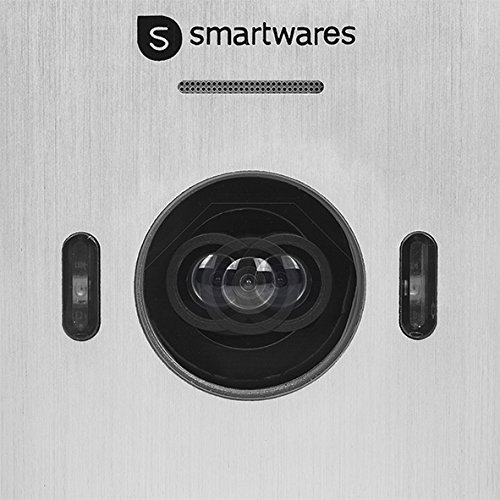 "Smartwares DIC-22222UK Video Intercom System - 720p HD - 7"" (17.8cm) LCD monitor - Pan/tilt camera - Auto record function - Night vision - weatherproof - Set for 2 apartments  Smartwares"