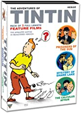 Tintin (3 Feature Film Set - Prisoners of the Sun/Calculus Affair/Mystery at Shark Lake)
