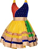 #8: AD & AV Partywear Frock For Girls (YELLOSATIN_FROCK, Yellow, )