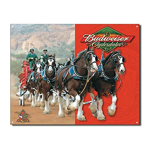 budweiser-clydesdales-metal-bar-sign-by-kegworks