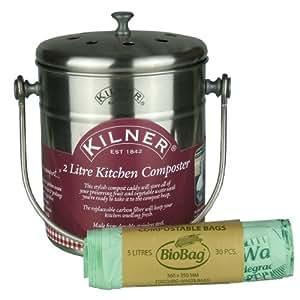 Kilner kompostbehalter aus edelstahl mit 30 stuck 5 for Kompostbeh lter küche