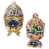 Design Toscano FH91364 Jeu d'œuf de Romanov émaillé Multicolore 9 x 9 x 11,5 cm