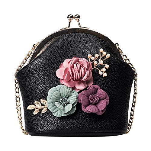 Felicove Damen Handtasche, Fashion Handtasche Schulter Stereo Blumen Tasche Kleine Tote Damen Handtasche Freizeit Taschen - Braune Wildleder Fransen