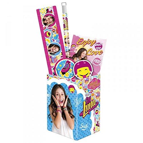 Soy Luna set scolaire pot à crayons garni fournitures scolaires nouveaute Disney