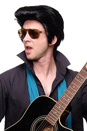 tsperücke Herrenperücke Perücke Elvis Rockabilly Tolle Koteletten Schwarz 50ies Rock'n'Roll F331A-1B (Die Rockabilly Perücke In Schwarz)