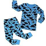 Kidear Kids Pijamas Conjuntos de Manga Larga Ropa de casa Ropa de Dormir para niños pequeños Pjs 4-10 Años Niños Niños Ropa de Dormir de algodón (6-7 Años, Estilo2)