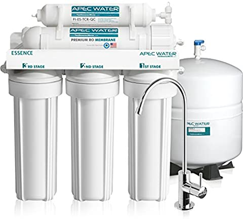 APEC - Top Tier - Built in USA - Ultra Safe, Premium 5-Stage Reverse Osmosis Drinking Water Filter System (ROES-50) by APEC Water Systems