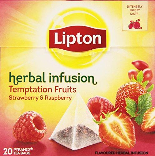 Lipton - Herbal Infusion, Tè di Fragola e Lampone, 20 filtri - 40 g