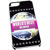 Bianco cover per iPhone 5/5S 0703 Pink Worlds Best Bus driver job