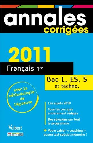 Français 1e Bac L, ES, S et techno