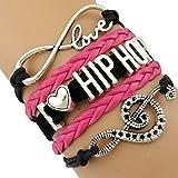 Hip Hop Infinity Freundschaftsarmband, Liebesarmband, Band, Flechtarmband, Wickelarmband, Leder Armband, Bracelet