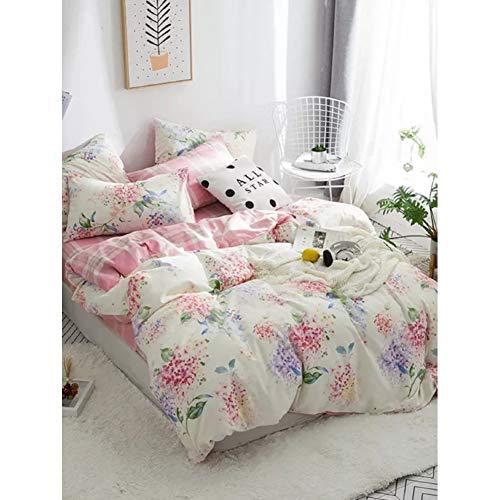 7b719cd4a8 JSDJSUIT Juegos de Cama Fiori Rosa Set di biancheria da letto 4 pz Set di  biancheria