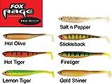 7 Fox Rage Tiddler Fast Kunstköder 18cm Set, Köder für Hecht, Zander, Barsch und Wels, Hechtköder, Zanderköder, Gummifisch, Gummiköder, Angelköder