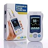 di Ossigeno nel Sangue saturazione Monitor Dita Pulsossimetro Misurazione Ossigeno sanguigna e del Battito Adatto per Adulti, Bambini, Neonati