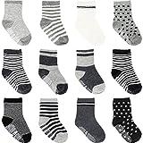 Ateid 12 Paar Baby Socken Antirutsch-Socken