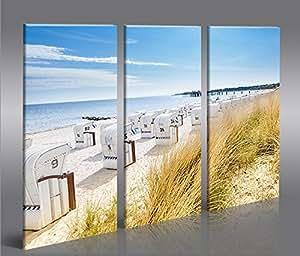 Islandburner bild bilder auf leinwand strandkorb strand meer 3p urlaubsfeeling xxl poster - Dekoartikel meer ...