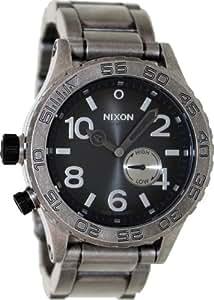 Nixon 42-20 Watch - Argent Antique Hommes / Noir, Taille Unique