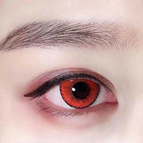 Sisaki Große Durchmesser Augen Kosmetik Farbige Kontaktlinsen Make-up farbige Kontakte Party, Hochzeit/Club/Cosplay(1 (Permanente Kontaktlinsen)