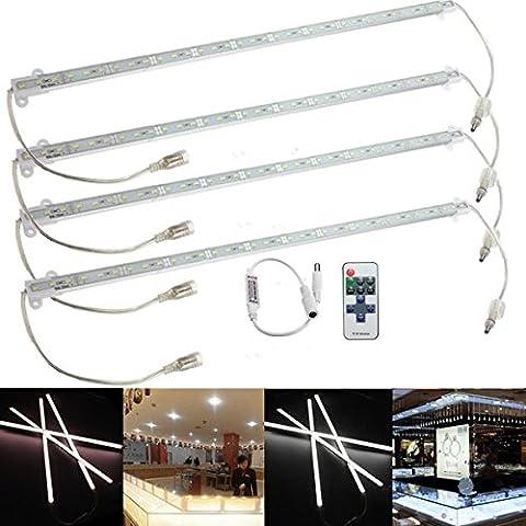 Pegasus 4 x 9W 5630 LED steifes Streifen Light Bar Wasserdicht Weiß / Warm Auto Kabinett Lampe + Remote Dimmer DC 12V