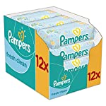 Pampers Complete Clean Baby Wipes, Baby Fresh Scent, 64 Wipes x 12