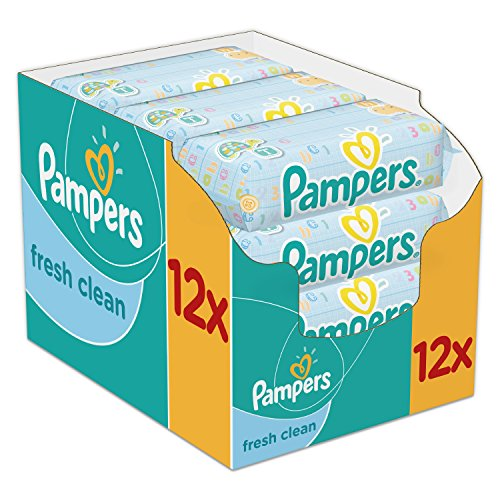 Pampers Fresh Clean Baby Wipes – 768 Wipes, Pack of 12 51FAnOyZ30L