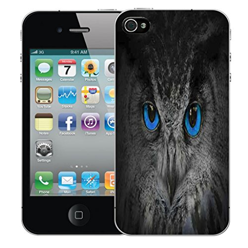 Mobile Case Mate iPhone 4s clip on Dur Coque couverture case cover Pare-chocs - mysterious owl Motif mysterious owl