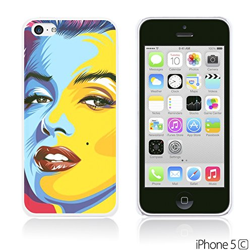 OBiDi - Celebrity Star Hard Back Case / Housse pour Apple iPhone 5C - Elvis Presley Pop Art Marilyn Monroe