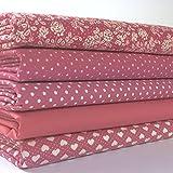 Always knitting & sewing more basic fat quarter bundles 100 % cotton (WINE RED BASICS)