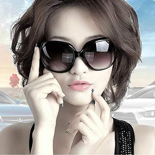CYCY Sonnenschutz Sonnenbrille Damenbrille Europa und die Flut Marke 20368 Sonnenbrille großen Rahmen braun, weiß