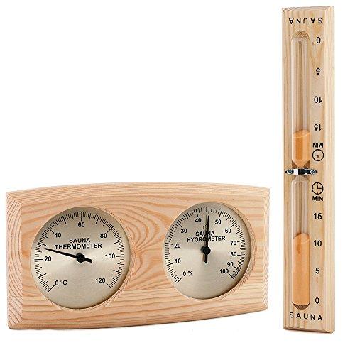 Sawo Sauna-Thermohygrometer 271-thbp und Sand Uhr 551-ep Set; Kiefernholz;