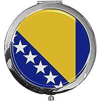 "metALUm - Extragroße Pillendose in runder Form""Flagge Bosnien-Herzegowina"" preisvergleich bei billige-tabletten.eu"