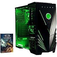 Vibox Vision 2 Gaming PC - with Warthunder Game Bundle (3.7GHz AMD A4 Dual Core Processor, Radeon HD Graphics Chip, 1TB Hard Drive, 8GB RAM, Vibox Predator Green LED Case, No Operating System)