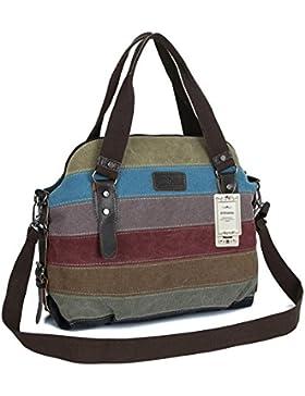 ZUNIYAMAMA Premium Leinwand Multi Farbe Schultertasche Shopper Umhängetaschen Handtasche für Frauen Tasche Damenhandtaschen