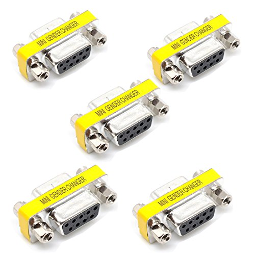 willwin 5x 9Pin RS-232DB9serielle Kabel Gender Changer Koppler Adapter Female to Female -